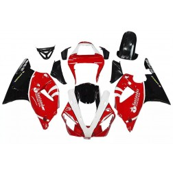 Red, White & Black Motorcycle Fairings For 2000-2001 Yamaha YZF-R1