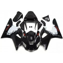 Black & White Motorcycle Fairings For 2000-2001 Yamaha YZF-R1