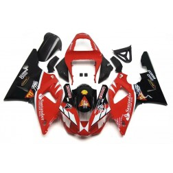 Red & Black Motorcycle Fairings For 2000-2001 Yamaha YZF-R1