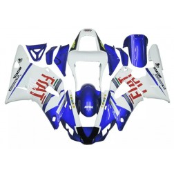 Blue & White FIAT Motorcycle Fairings For 2000-2001 Yamaha YZF-R1