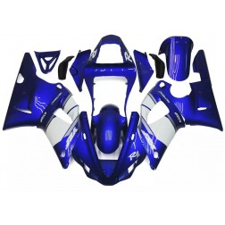 Blue & White Motorcycle Fairings For 2000-2001 Yamaha YZF-R1