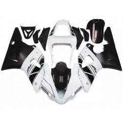 Pearl White & Black Motorcycle Fairings For 2000-2001 Yamaha YZF-R1
