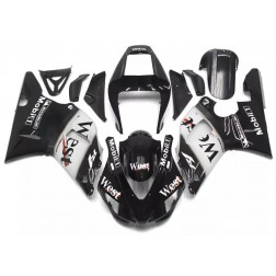 Black West Motorcycle Fairings For 2000-2001 Yamaha YZF-R1