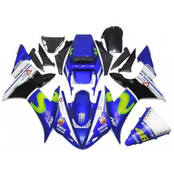 Blue Movistar Motorcycle Fairings For 2002-2003 Yamaha YZF-R1