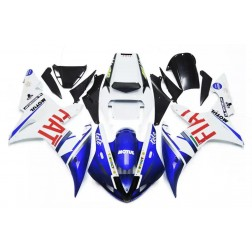 Blue & White FIAT Motorcycle Fairings For 2002-2003 Yamaha YZF-R1