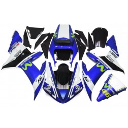 Blue & White Movistar Motorcycle Fairings For 2002-2003 Yamaha YZF-R1