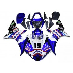 Blue & White Motorcycle Fairings For 2002-2003 Yamaha YZF-R1