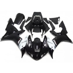Black & White Motorcycle Fairings For 2002-2003 Yamaha YZF-R1