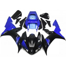 Gloss Black & Blue Motorcycle Fairings For 2002-2003 Yamaha YZF-R1