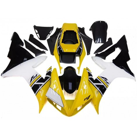 Yellow, Black & White Motorcycle Fairings For 2002-2003 Yamaha YZF-R1