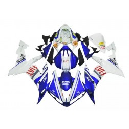 Blue & White FIAT Motorcycle Fairings For 2004-2006 Yamaha YZF-R1