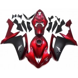 Gloss Red & Matte Black Motorcycle Fairings For 2007-2008 Yamaha YZF-R1
