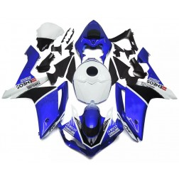 Blue & White Motorcycle Fairings For 2007-2008 Yamaha YZF-R1