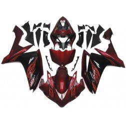 Black & Red Flames Motorcycle Fairings For 2007-2008 Yamaha YZF-R1