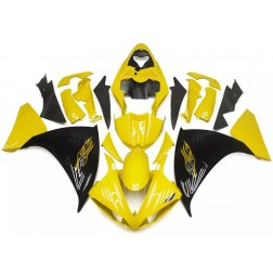 Black & Gloss Yellow Flames Motorcycle Fairings For 2009-2011 Yamaha YZF-R1