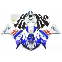 Blue & White FIAT Motorcycle Fairings For 2009-2011 Yamaha YZF-R1