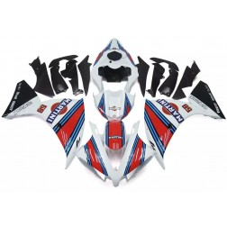 White, Red & Blue Martini Motorcycle Fairings For 2012-2014 Yamaha YZF-R1