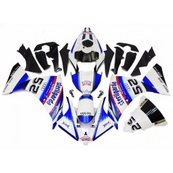 Pearl White & Blue Motorcycle Fairings For 2012-2014 Yamaha YZF-R1