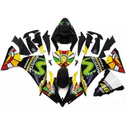 Black & Green Movistar Motorcycle Fairings For 2012-2014 Yamaha YZF-R1
