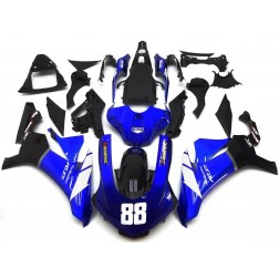 Blue, Black & White Motorcycle Fairings For 2015-2017 Yamaha YZF-R1