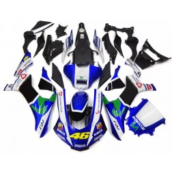 Blue & White Movistar Motorcycle Fairings For 2015-2017 Yamaha YZF-R1