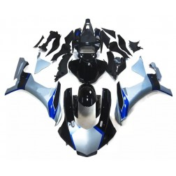 Black, Silver & Blue Motorcycle Fairings For 2015-2017 Yamaha YZF-R1