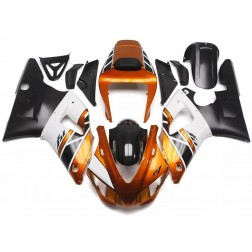 Gold, White & Black Motorcycle Fairings For 1998-1999 Yamaha YZF-R1