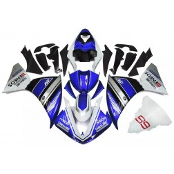 Blue, Silver & Black Motorcycle Fairings For 1998-1999 Yamaha YZF-R1