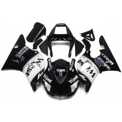 Black West Motorcycle Fairings For 1998-1999 Yamaha YZF-R1