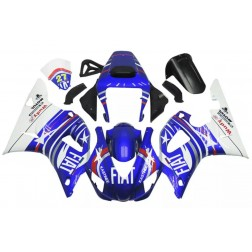 Blue & White FIAT Motorcycle Fairings For 1998-1999 Yamaha YZF-R1