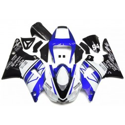 Blue, White & Black Motorcycle Fairings For 1998-1999 Yamaha YZF-R1