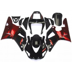 Black & Red Flames Motorcycle Fairings For 1998-1999 Yamaha YZF-R1