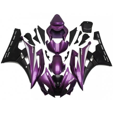 Purple & Black Motorcycle Fairings For 2006-2007 Yamaha YZF-R6