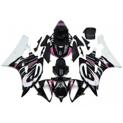 Black, Pink & White Stars Motorcycle Fairings For 2006-2007 Yamaha YZF-R6