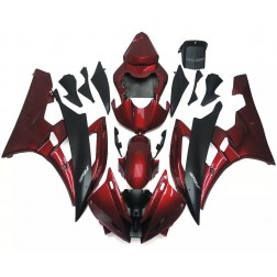 Dark Red & Black Motorcycle Fairings For 2006-2007 Yamaha YZF-R6