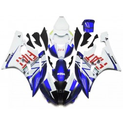 Blue & White FIAT Motorcycle Fairings For 2006-2007 Yamaha YZF-R6