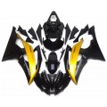 Gloss Black & Gold Motorcycle Fairings For 200...