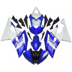 Blue & White Motorcycle Fairings For 2008-2016 Yamaha YZF-R6