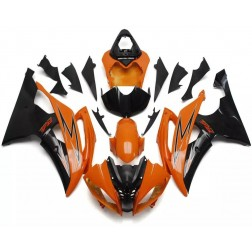 Black & Orange Motorcycle Fairings For 2008-2016 Yamaha YZF-R6
