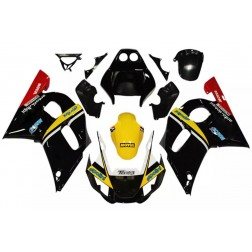 Black & Yellow Motorcycle Fairings For 1998-2002 Yamaha YZF-R6