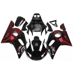 Gloss Black & Red Motorcycle Fairings For 1998-2002 Yamaha YZF-R6
