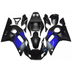 Matte Black & Blue Motorcycle Fairings For 1998-2002 Yamaha YZF-R6
